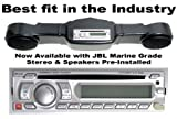 Club Car DS Golf Cart console w/ radio - ABS Black