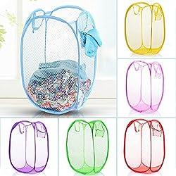 Kids Mandi (TM) Home Essentials Mesh Laundry Basket, Bag for storage of Clothes, Toys etc - Color as per availablity