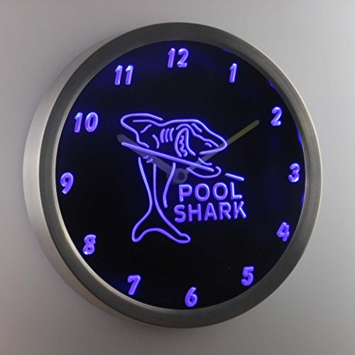 nc0960-b-Pool-Shark-Man-Cave-Decor-Neon-Sign-LED-Wall-Clock