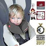 NUEVO: SANDINI SleepFix S Outlast - niños almohada de seguridad (coche/bicicleta) - NUEVO AJUSTE - Set completo - ANTRACITA - Incluye bolsa