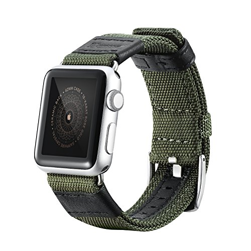 Apple Watch Series 2 Band, Benuo Premium Nylon Woven Smart Watch Replacement, 42mm Wrist Strap with Adjustable Buckle for New Apple iWatch Series 2/ Apple Watch Series 1/Nike+ (Green, 42mm) 6