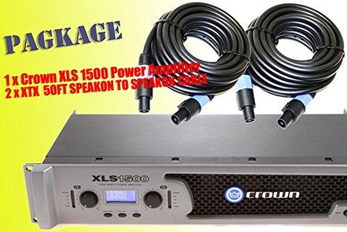 Crown Xls1000 Drivecore 1100W Stereo Power Amplifier + 2 Speakon To Speakon 12Gauge 50Ft Premium Cables