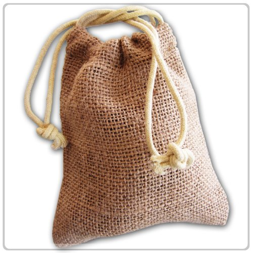 New Burlap Favor Gift Bags With Drawstring 3 x 5 - Pack Of 24 Bags Small