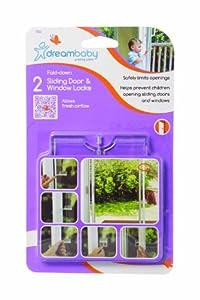 Dreambaby - Seguros para puertas correderas y ventanas (2 unidades), color transparente por Dreambaby®