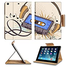 buy Luxlady Premium Apple Ipad Air (Fifth Generation) Generation Flip Case Musical Background With Audio Cassette And Headphones Image 25969220 Pu Leather Card Holder Carrying