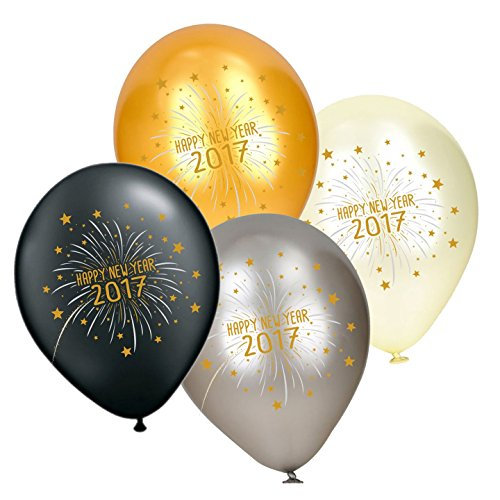 Partay Shenanigans 50-Pack 2017 New Year's Eve Party Celebrate Balloons