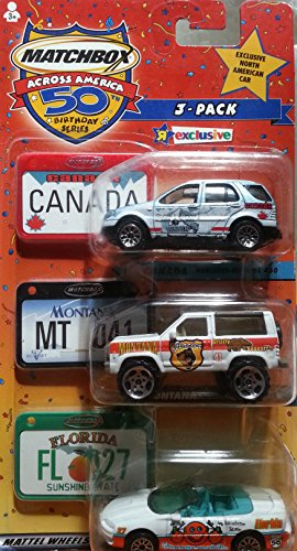 Matchbox Across America Canada Exclusive 3-pack Set Montana Florida - 1