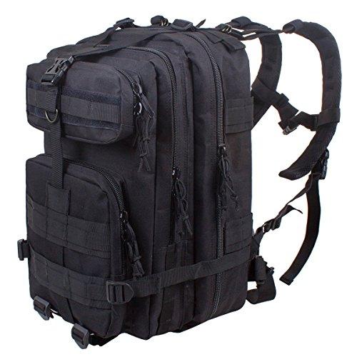 Gearmax® 25L Sport esterno tattico militare dello zaino Molle Zaini campeggio Escursionismo Bag Borsa a tracolla Uomo Donna Outdoor Sport Camping Escursionismo sacchetto(Nero)