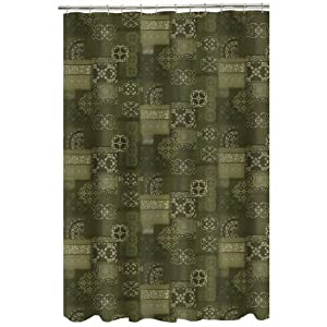 "Realtree AP Black Fabric Shower Curtain Camo 72/"" x 72/"" Modern Rustic Cabin Golds"