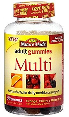 Nature Made Multi Adult Gummies, Orange, Cherry & Mixed Berry 90 ea (Pack of 2) (Nature Made Multi Adult Gummies compare prices)