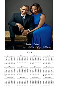 New ! President Barack Obama & First Lady Michelle 2015-(12 x 18)Calendar