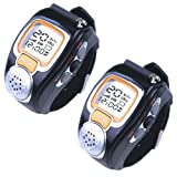 (2-pack)New State-of-the-art Fashionable Wristwatch Walkie Talkie Spy Wrist Watch--Auto Channel Scan--LCD display--Auto Squelch