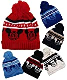 Unisex Girls / Boys Cute Knitted Mickey Mouse Style Winter Warm Ski Hat / Beanie Hat / Bobble Hat One Size (6 Colours Available)