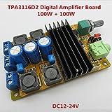 Generic DC10-25V 100W+100W Mini TPA3116D2 Digital Amplifier Board With MCU Intelligent Soft Control Switch