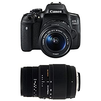 CANON EOS 750D + 18-55 IS STM + SIGMA 70-300 DG MACRO