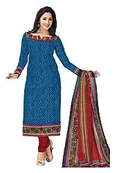 AMP IMPEX EthnicwearWomen's Dress Material(KOMALSPL6003_Blue_Free Size)