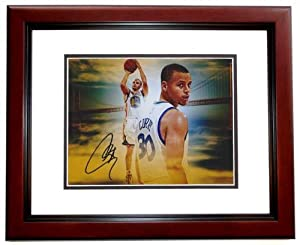 Stephen Curry Autographed Hand Signed Golden State Warriors 8x10 Photo MAHOGANY...