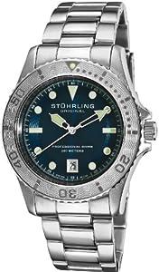 Stuhrling Original Men's 1161.33116 Nautical Regatta Sailor Swiss Quartz Divers Date Stainless Steel Watch