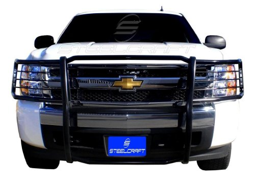Steelcraft Custom Fit 07-13 CHEVY SILVERADO 1500 Grille Bumper Brush Guard Bull Bar BLK (Brush Guard For Chevy Silverado compare prices)