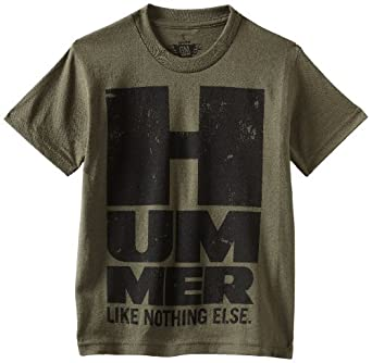 Genuine Gm Kids Boys 8-20 Hummer H1 T-Shirt, Moss Green, Small