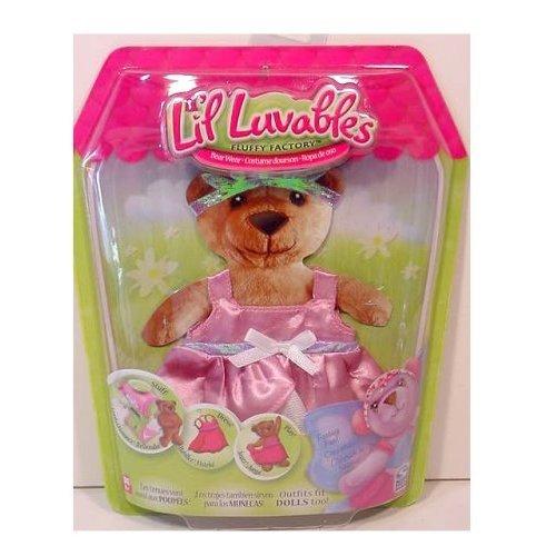 Lil Luvables Fluffy Factory Bear Wear - Fantasy Fun Pink Princess Outfit