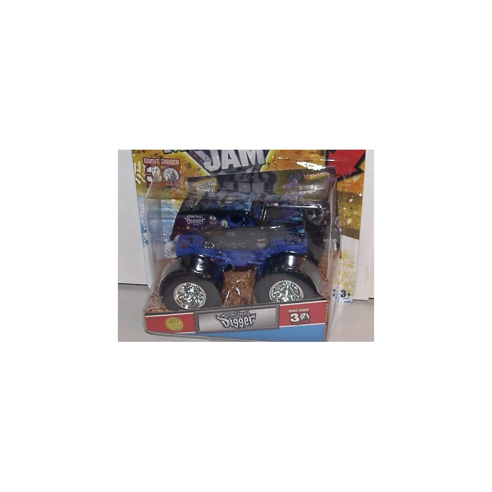 2012 HOT WHEELS 164 SCALE SON UVA DIGGER 2012 1ST EDITIONS MONSTER JAM TRUCK 30TH ANNIVERSARY GRAVE DIGGER SERIES WITH TOPPS TRADING CARD