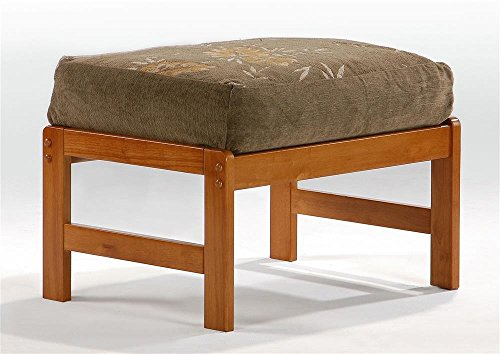 Night And Day Furniture Home Decorative Standard Chair Ottoman In Honey Oak Finish front-360853