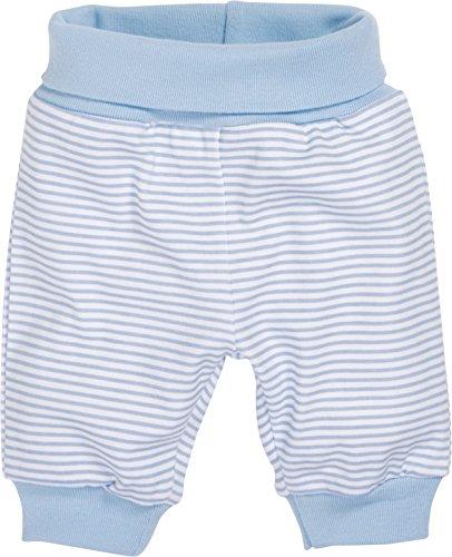 Schnizler Baby - Jungen Hose Babyhose, Jogginghose Ringel mit elastischem Bauchumschlag, Oeko - Tex Standard 100, Gr. 62, Blau (weiß/bleu 117)