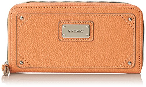 Nine West Table Treasures Zip Around Wallet, Ambrosia, One Size