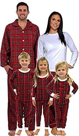 sleepytimepjs pyjamas de noel rouge a carreaux pour toute la famille v tements et. Black Bedroom Furniture Sets. Home Design Ideas