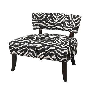 Powell Company Lady Slipper Zebra Print Accent Chair