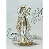 "Dolls Of India ""Lady Doing Shringar"" Reprint On Paper - Unframed (29.21 X 24.13 Centimeters)"