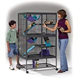 "Midwest Ferret Nation Double Unit with Stand Ferret Cage, 36"" L X 25"" W X 62.5"" H"