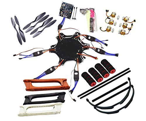 QWinOut-F550-RC-Hexacopter-Drone-Aerial-FPV-ARF-Upgrade-Kit-Kkmulticopter-Circuit-Board-Hexa-rotor-Air-Frame-Brushless-Motor-Brushless-Esc-Landing-Skid-Skid-proof-Sponge-Foam
