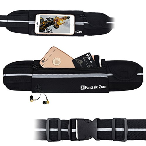 Fantastic-Zone-Running-Belt-Waist-Pack-Reflective-Pack-Waist-Pouch-Fitness-Workout-Belt-Sport-Exercise-Waist-Bag-for-Running-Gym-Yoga-Walking-Cycling-Apple-iPhone-7-6-6-5-5s-5c-Samsung