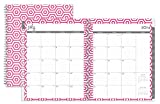 July 2014 - June 2015 Blue Sky Dabney Lee Hexagon Weekly/monthly Planner 8.5 X 11