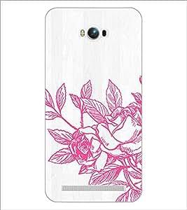 PrintDhaba Flower D-2173 Back Case Cover for ASUS ZENFONE MAX ZC550KL (Multi-Coloured)