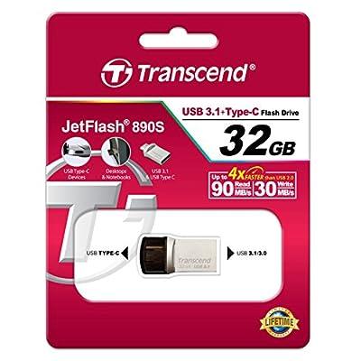 Transcend JetFlash JF890s 32GB USB 3.1/3.0 and OTG Dual Pen Drive
