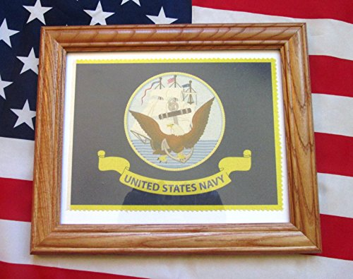 Framed American Military Flag, United States Navy Flag, Soldier Veteran Gift