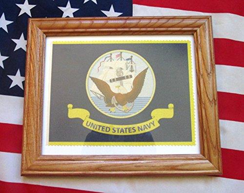 Framed American Military Flag, United States Navy Flag, Soldier Veteran Gift