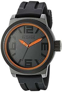 Kenneth Cole Reaction Men's RK1236 Triple Black Orange Details Watch.