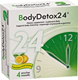 Body Detox 24 - Lemon Flavor 4 sachets - Effective Total Body cleanse within 24 hours - Lemon extract Papaya Pumpkin seed Wheat germ Carrot Oats Sweet Potato Chickpea Shiitake Sorrel leaf Apple Cider Vinegar Pineapple Aloe