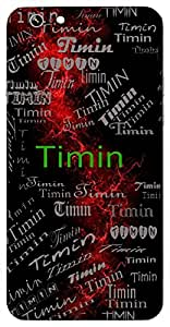 Timin (Large Fish) Name & Sign Printed All over customize & Personalized!! Protective back cover for your Smart Phone : Moto G2 ( 2nd Gen )