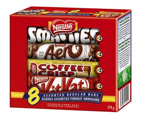 Nestle Assorted Chocolate Bars, 374gm, Multipack