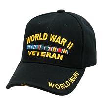 Military WORLD WAR II VETERANS Cap (BLACK)