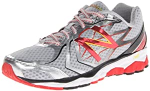 New Balance M1080 D V4, Chaussures de running homme - Argent (Silver/Red (043)), 45 EU (11 US)