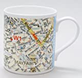 Harper Collins Map of Mayfair London Mug by Mclaggan Smith Mugs