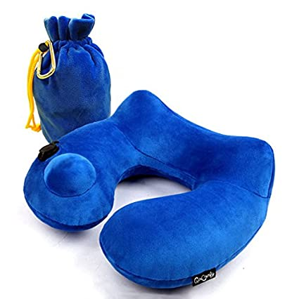 Daydreamer Neck Pillow - Luxuriously Soft Inflatable Travel Pillow for Sleeping on Airplane, Car, Train and Bus