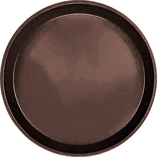 Serving Camtray, Round, 9'' Diameter, Fiberglass, Aluminum Reinforced Rim, Brazil Brown, Nsf (12 Pieces/Unit)