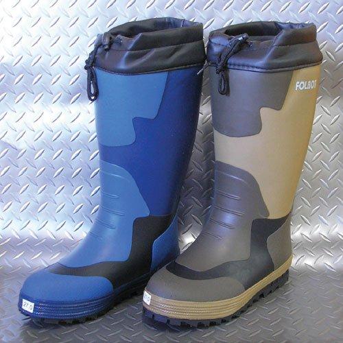 FB-M02 メンズ防寒長靴/ブーツ 雪 滑り止め 男性用 レインブーツ 28.0cm ネイビー